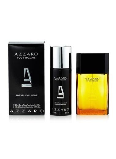 Azzaro Pour Homme EDT 100 ml Erkek Parfüm Seti Renksiz